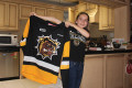 TEN-YEAR-OLD ORANGEVILLE RESIDENT Christina Ciurleo beat out thousands of other contestants to win a contest launched by the Hamilton Bulldogs to design to newly-relocated team's 2016/17 home jerseys.