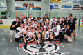 The Orangeville Junior B Northmen celebrate their Founders Cup Championship at the Alder Street arena in Orangeville on August 21. The Ontario Junior B Lacrosse League champions went undefeated in the national tournament and claimed the cup with an 11-6 win over the Green Gaels of Clarington in the final game.