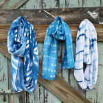 An assortment of scarves designed and created by Carrole Blakeman.