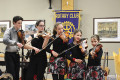The Leahy family, known collectively as Rhythmfoot, provided the entertainment on Tuesday evening as the Rotary Club of Orangeville celebrated its 80th anniversary in the community.