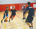 The Orangeville Hawks U14 boys team go through a set of skill challenges during the Club's final day of the season at Westside Secondary School. The Hawks had their most successful year as a basketball club this year and look on improving next season.