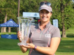 ORANGEVILLE NATIVE BRITTANY MARCHAND secured her first-ever professional win on the women's golf circuit, taking home the PHC Championship in Milwaukee, Wisconsin.